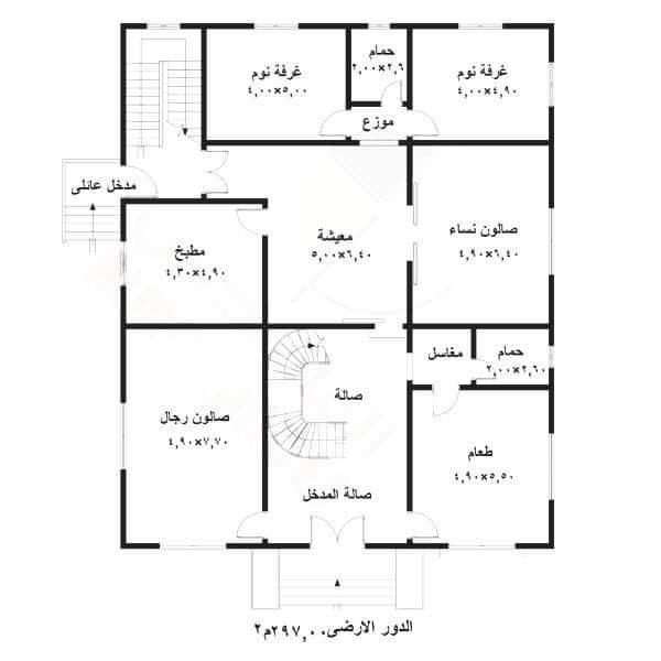 مخططات فلل صغيرة دورين سعوديه from shababalrafedain.net