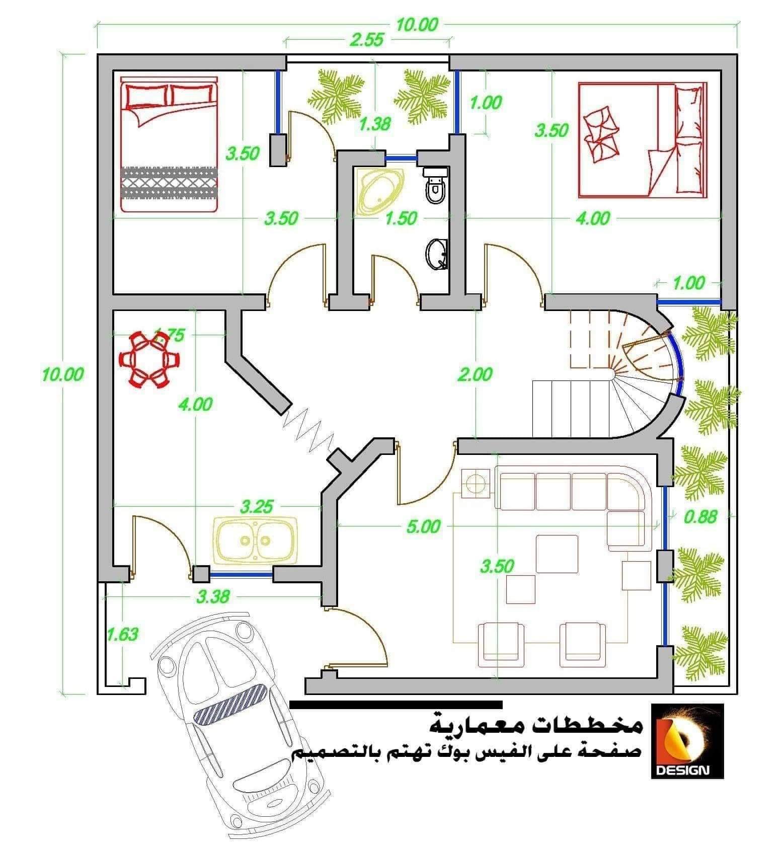 خرائط بناء 100متر 10 10 مخططات مجانية منتديات شباب الرافدين