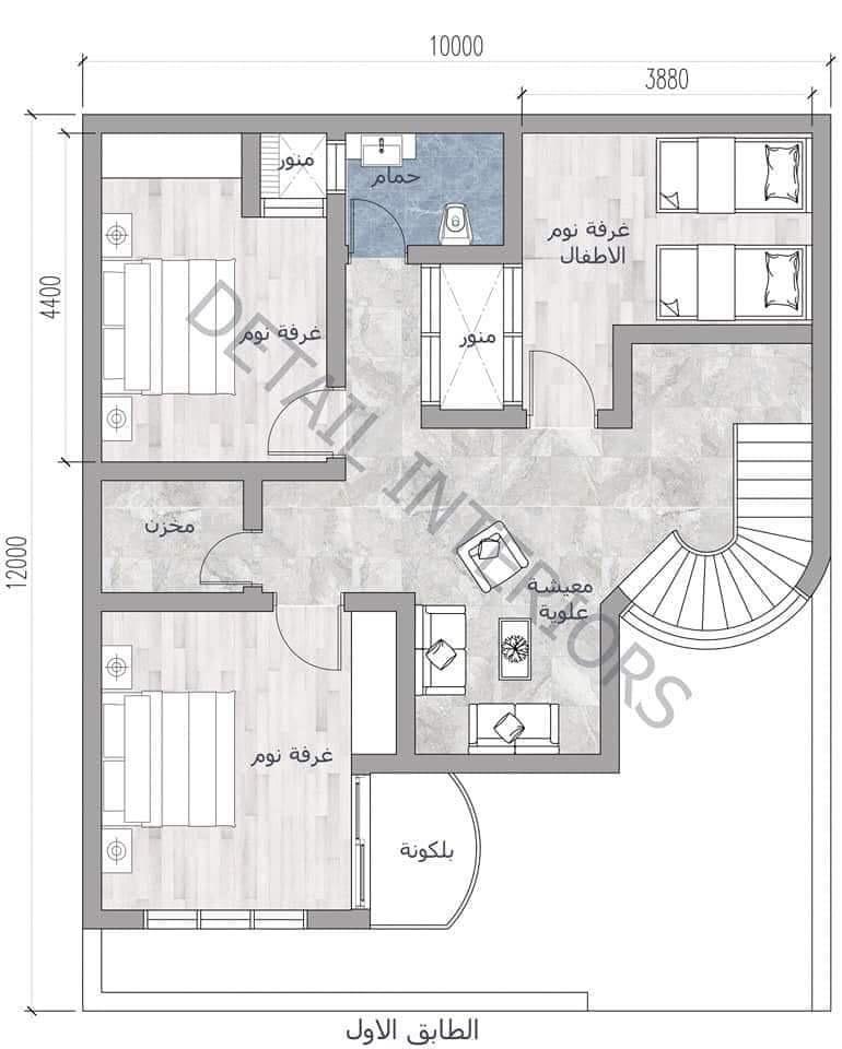 مخططات منازل 120 متر و 125متر خرائط مجانية عراقية . | منتديات شباب الرافدين
