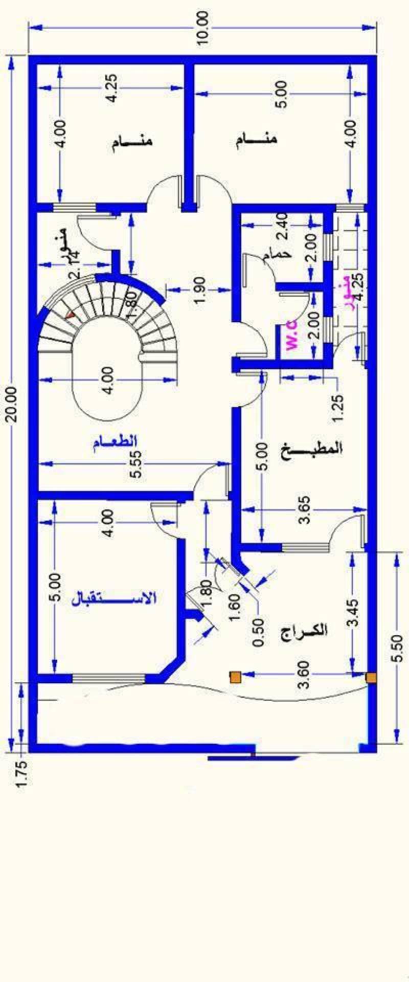 خرائط 200 م 10 20 خرائط منزل حديثة مساحة 200 متر تصماميم منازل